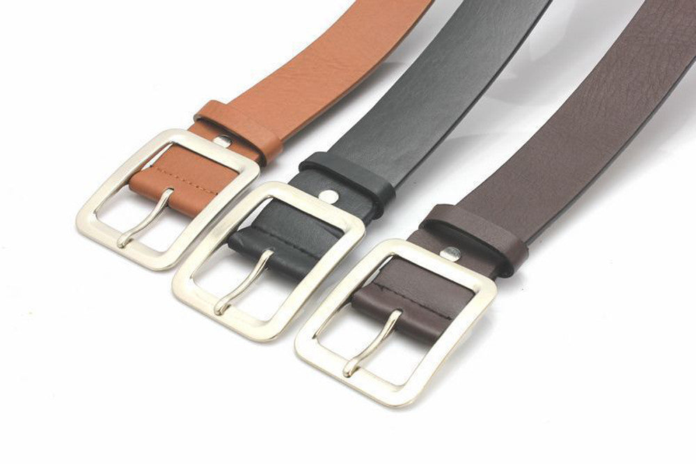 genuine leather luxury strap male belts vintage pin