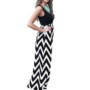 Summer Women Dress Striped Design Long Oho Dress