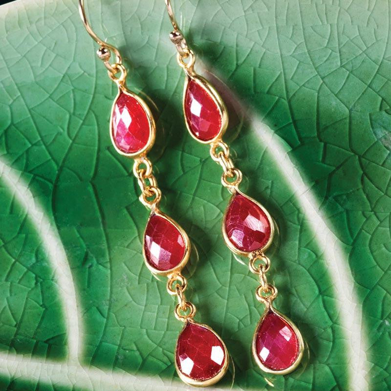 Classic ruby earrings