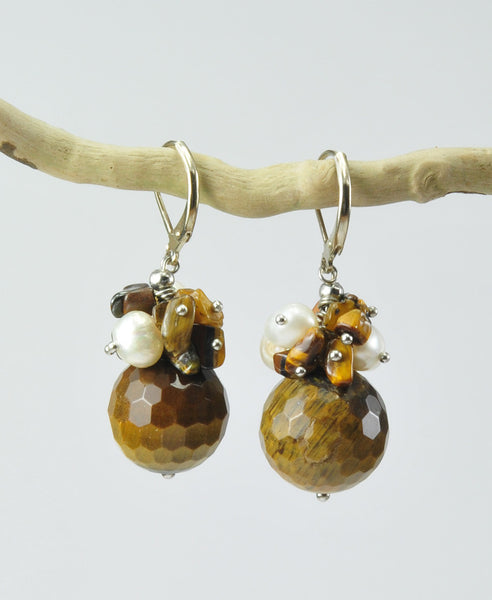 Passione tiger's eye earrings