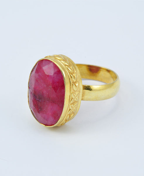Antique Oval Ruby Ring VIII