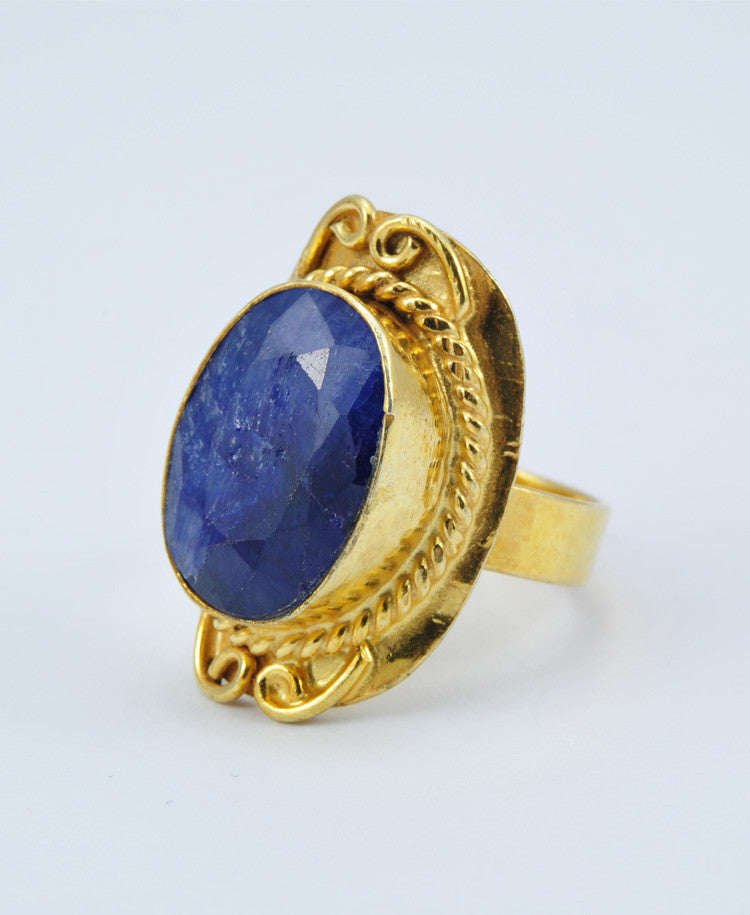 Antique Oval Sapphire Ring