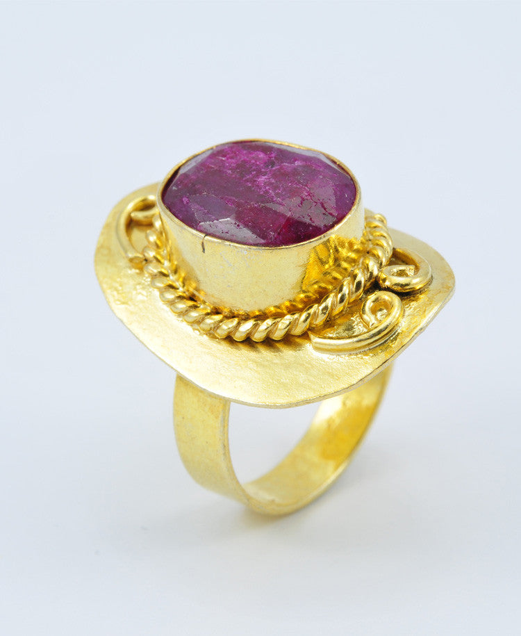 Antique Oval Ruby Ring VII
