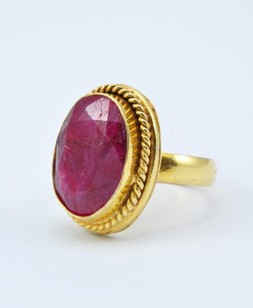 Antique Oval Ruby Ring V