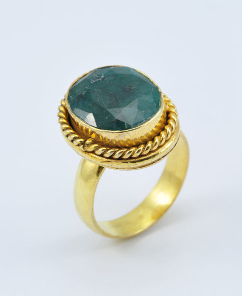Antique Oval Emerald Ring