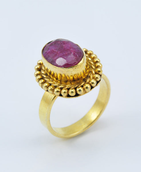 Antique oval Ruby Ring VI