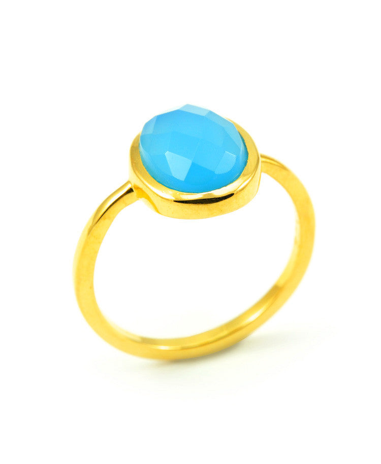EOS Blue Chalcedony Ring