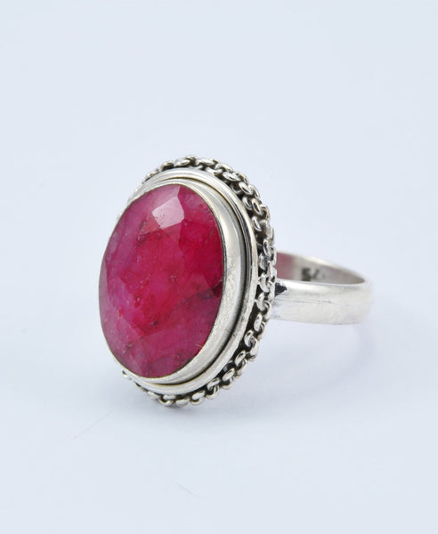 Shuba Oval Ruby Ring