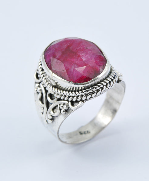 Antique Oval Ruby Ring XI