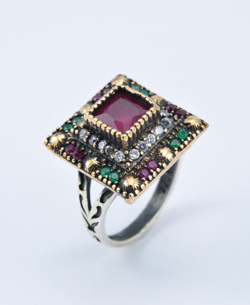 Dark Gold Square Ring