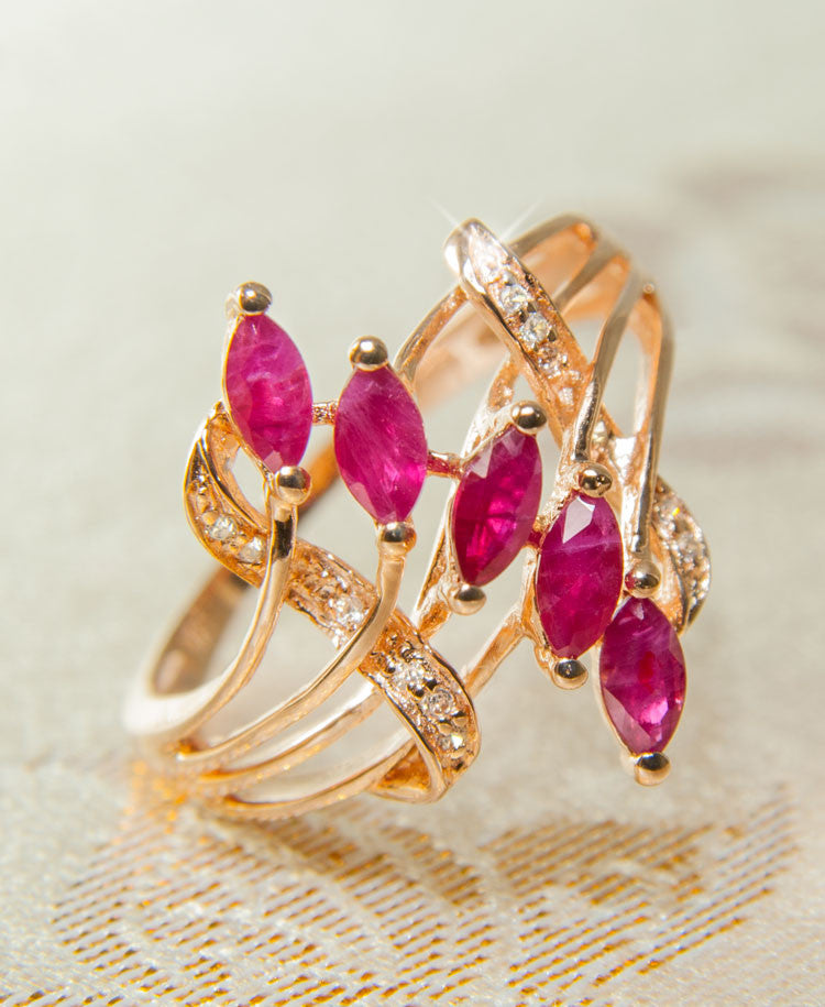 Aster ruby ring