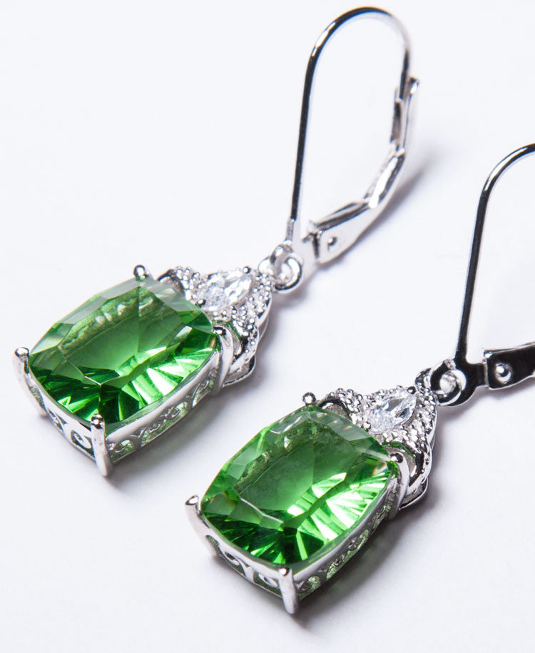Sparkle helenite earrings