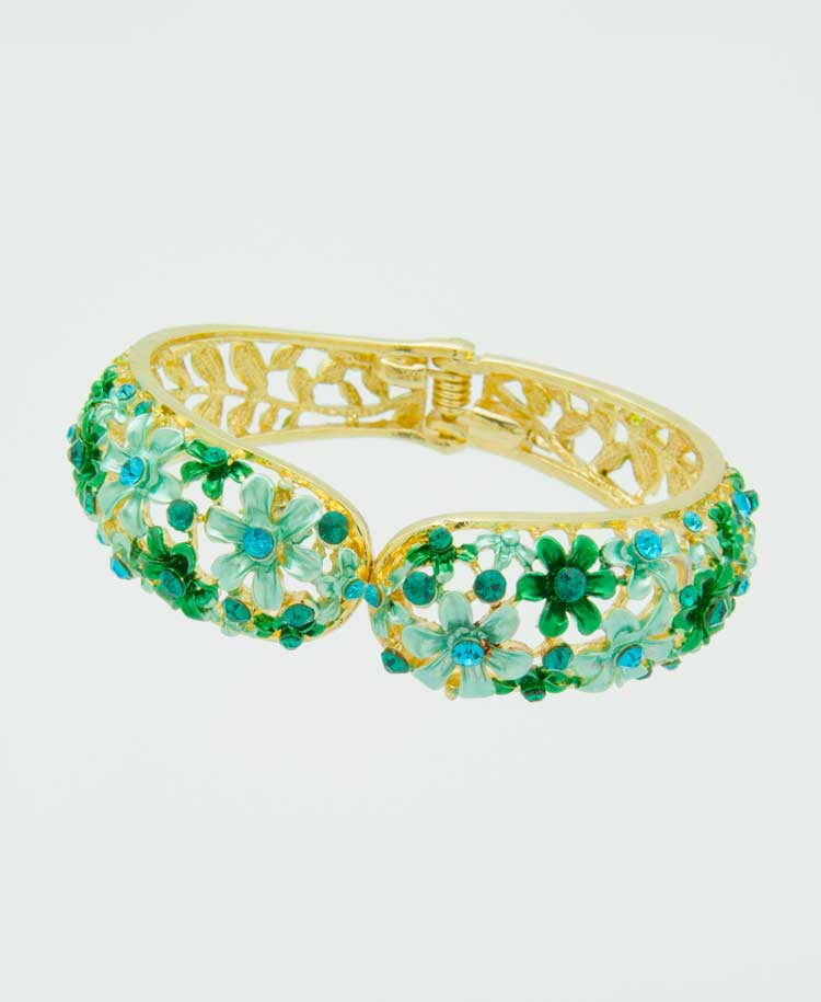 Green forest bangle