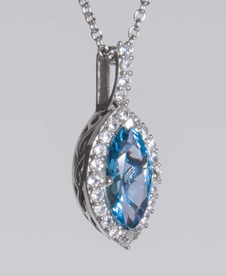 Blue tear pendant