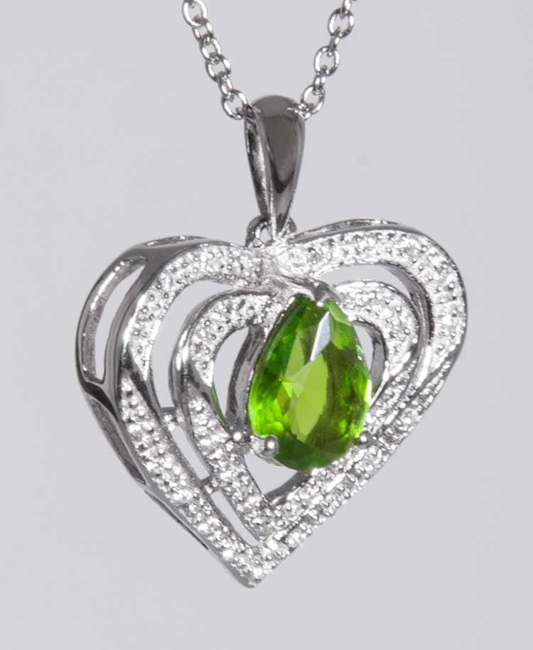 Heart of Helenite pendant