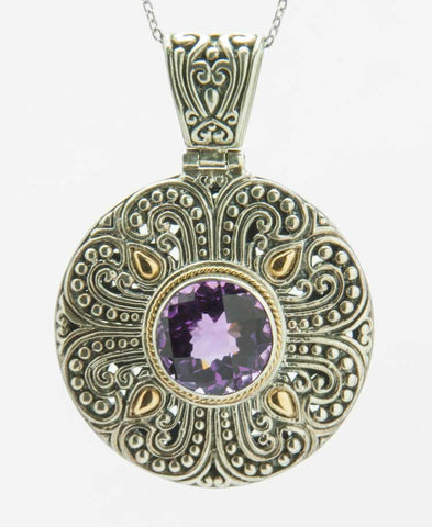 Purple sigillo pendant
