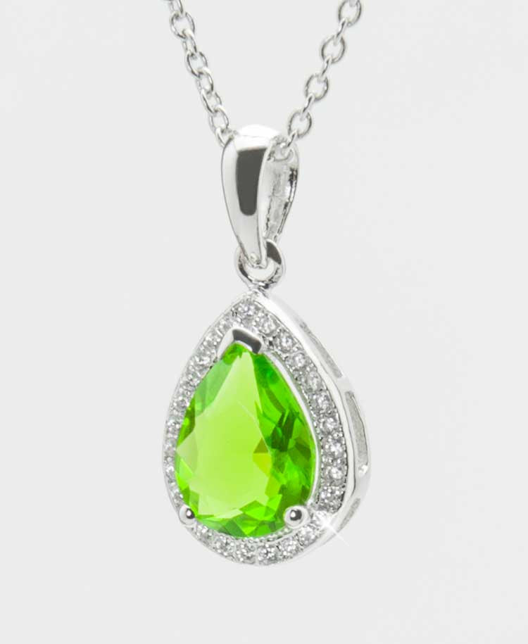 Helenite teardrop pendant