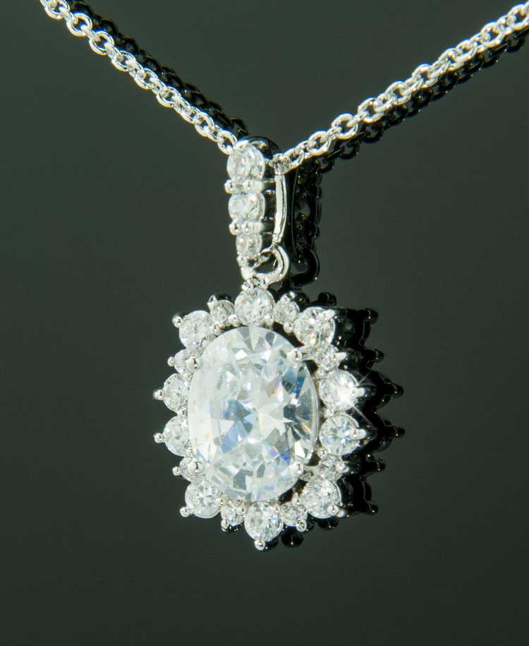 White tiffany pendant