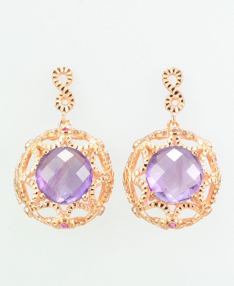 Monsa amethyst earrings