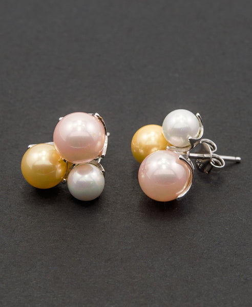 Exotique shell pearl earrings