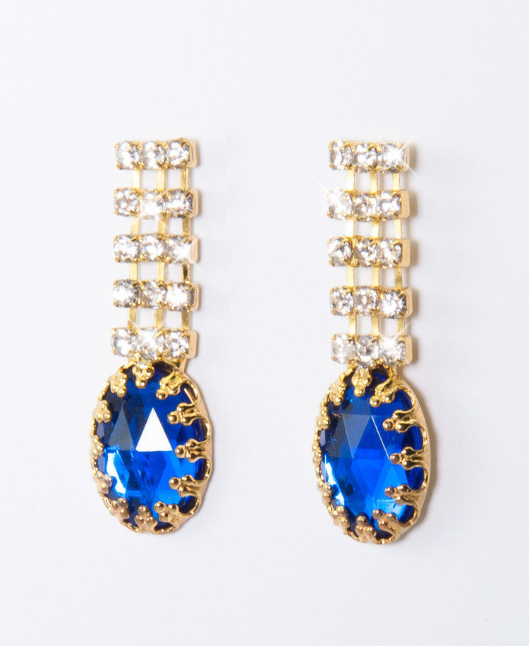Bluedy earrings