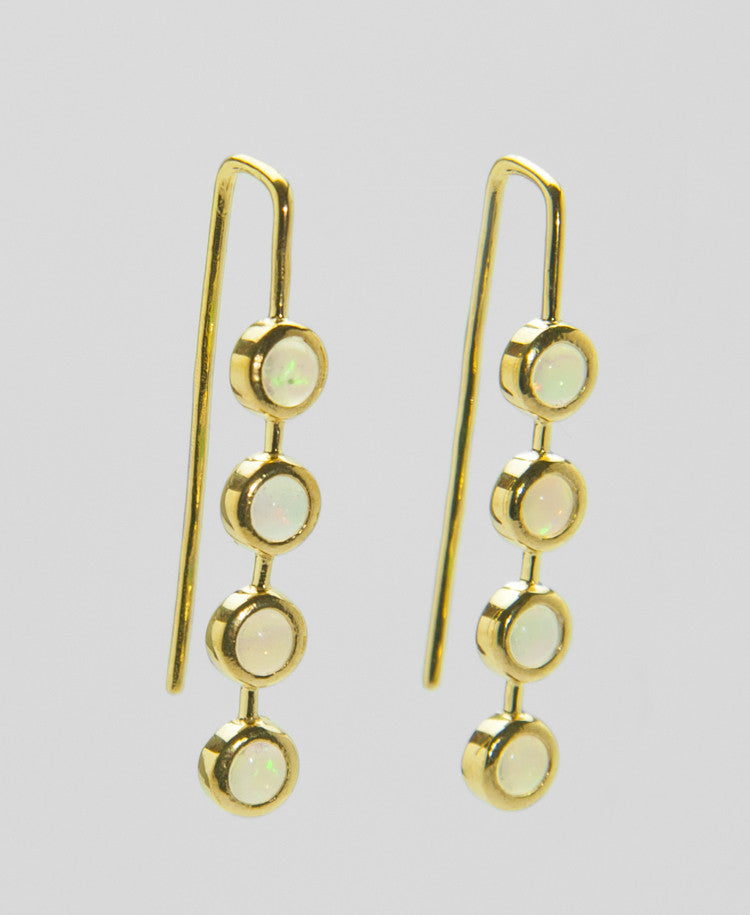 Eithopian Opal Earrings - HDECL 161129