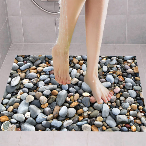 3D Cobblestone Floor Sticker