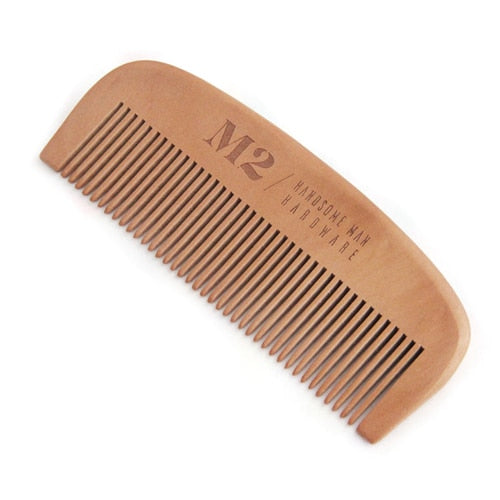 Natural Green Pear Wood Hair Brush