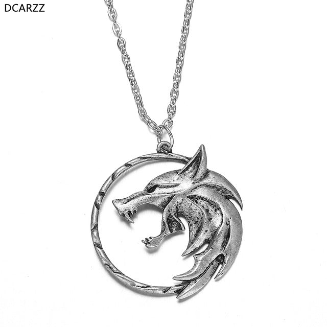 Wolf Medallion Necklace