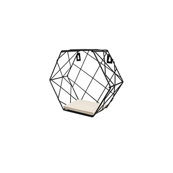 Nordic Wrought Iron Hexagon Grid Wall Racks
