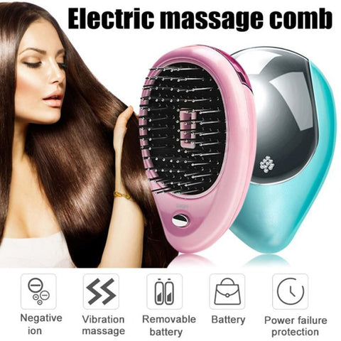 New Magic Portable Electric Ionic Hairbrush