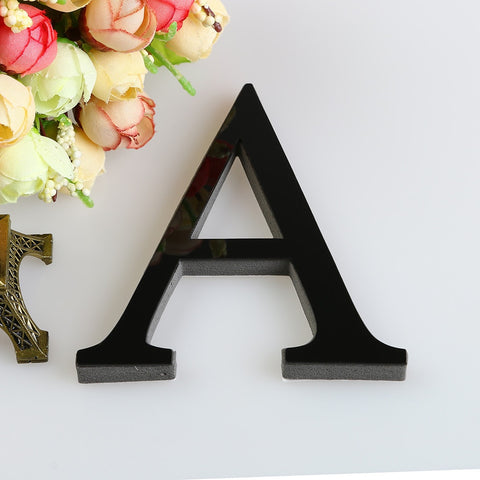 26 Letters DIY 3D Mirror Acrylic Wall Sticker