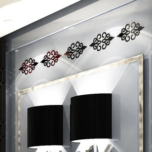 10PC Multi-size Square Self-adhesive Tiles 3d Mirror Wall Sticker