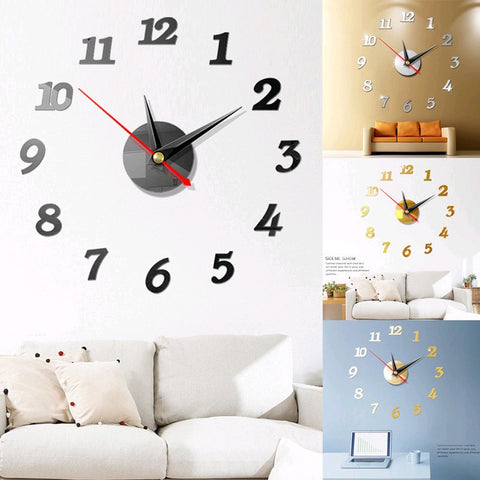 3D Roman Numbers Watch Wall Clock