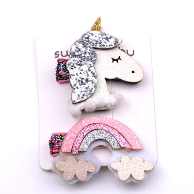 2Pcs/Lot Fashion Unicorn Accessory