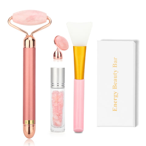 Electric Rose Quartz Facial Roller