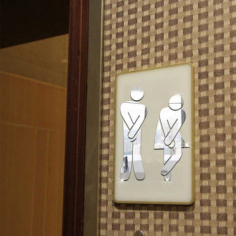 Acrylic Toilet Room Sign