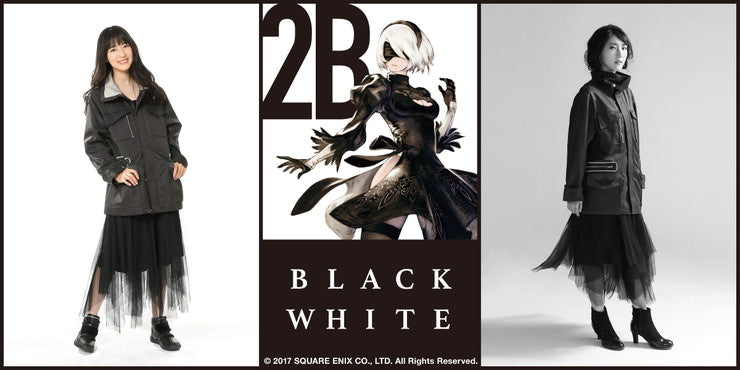 2B's Fashion Items in 2 Color Concepts 2B BLACK WHITE © 2017 SQUARE ENIX CO., LTD. All Rights Reserved.