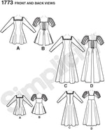 Simplicity #1773 Medieval Dress Costume Pattern
