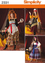 Simplicity #2331 Fortune Teller Dress Costume Pattern
