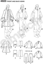 Simplicity #4923 Pirate Costume Pattern for Men