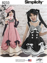 Simplicity #8233 Animé or Cosplay Costume Pattern