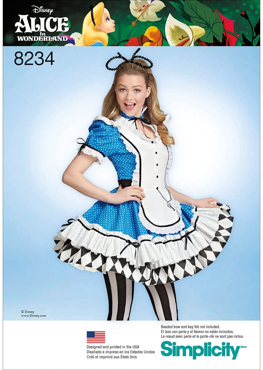 Alice in Wonderland - Simplicity 8234 Costume Sewing Pattern