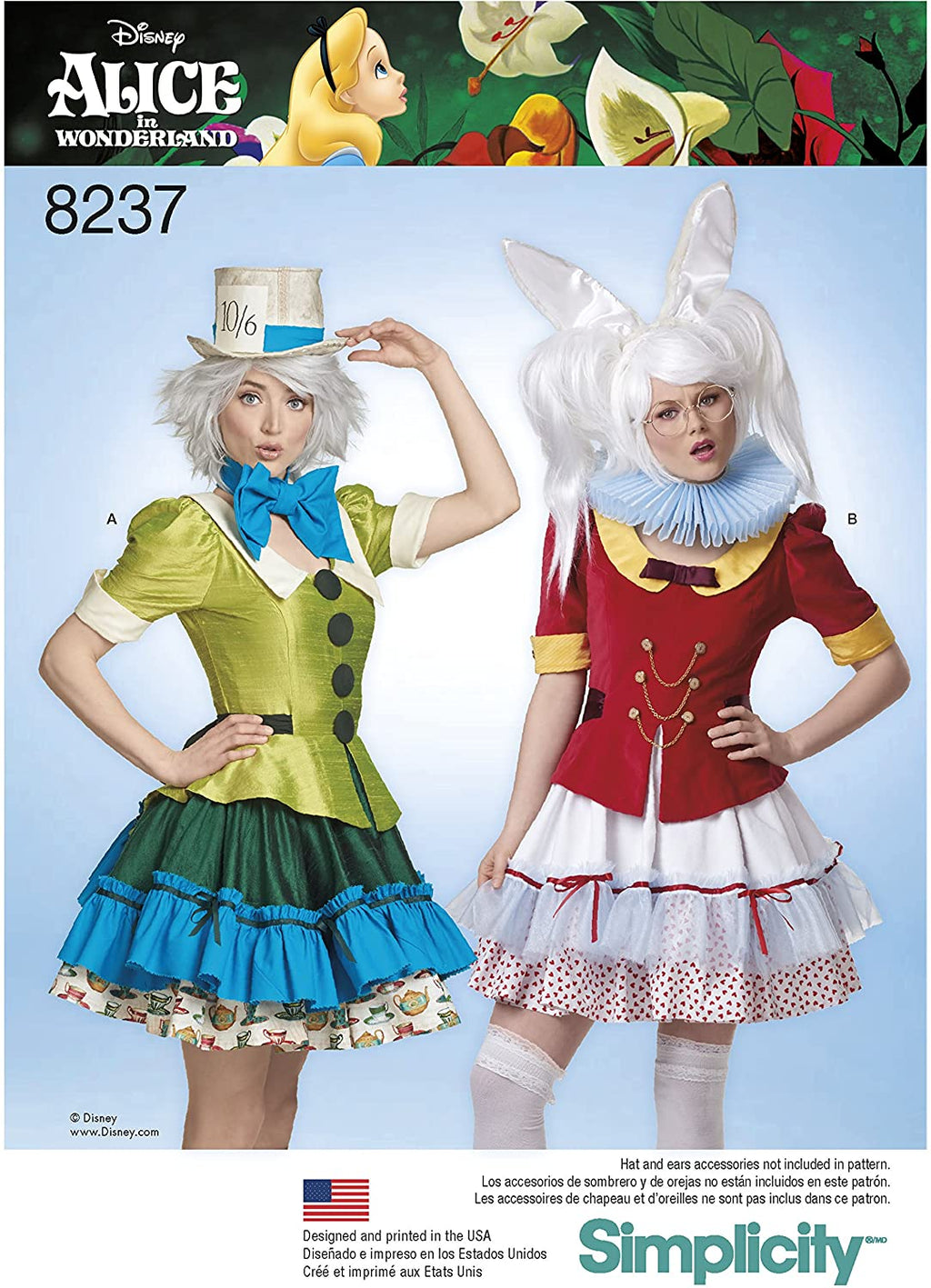 Alice in Wonderland - White Rabbit and Mad Hatter - Simplicity 8237 Costume Sewing Pattern