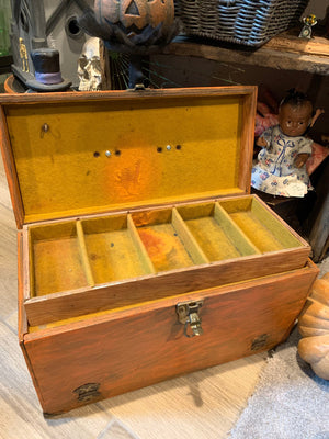 Vintage Toolbox Pumpkin Upcycle