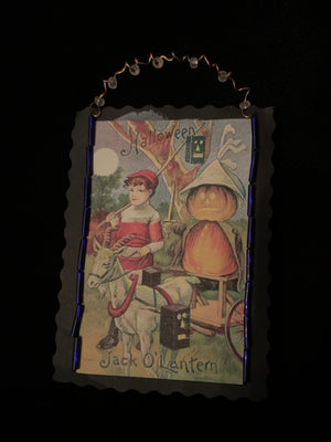 Vintage Halloween Paper Ornament