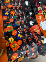 Vintage Looney Tunes Halloween Neck Tie - Candy Bags