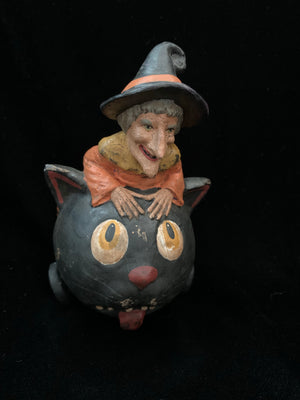Bethany Lowe Witch on a Cat