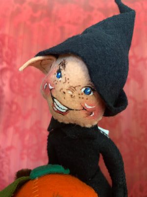 Annalee Pumpkin Patch Elf Doll #2990