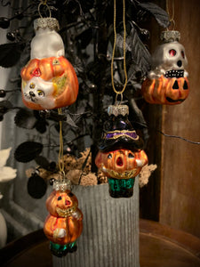Halloween Glass Ornament Set